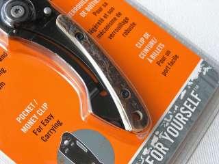 edge blade teflon coated stainless steel handle genuine stag onlay