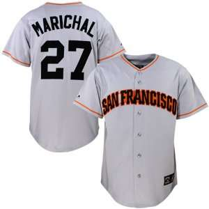 Majestic San Francisco Giants #27 Juan Marichal Grey Throwback Jersey