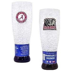 Alabama Crimson Tide Crystal Pilsner Glass   Set of Two