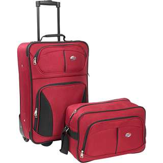American Tourister Fieldbrook 2 Piece Luggage Set   Red