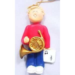 French Horn Male with Blonde Hair Beauty