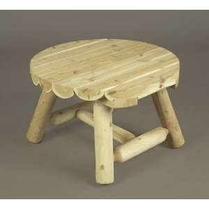 27 Outdoor Dining Natural Cedar Log Style Wooden Round