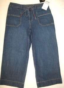 STYLE & CO Cargo Flap Pocket Denim Cropped Jean Capri 4