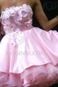 BOGINNI&CO BABY PINK CRYSTAL FLORAL PROM / WEDDING DRESS BOGINNI