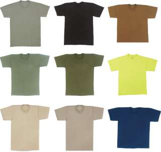 Army Military Solid Color S S T Shirt Short Sleeve Tees