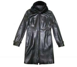 GIANFRANCO FERRE 3/4 LENGTH BLACK LEATHER JACKET/COAT~M