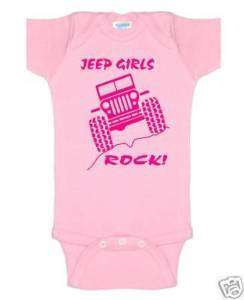 jeep girls rock baby onsie romper t shirt clothes 4X4