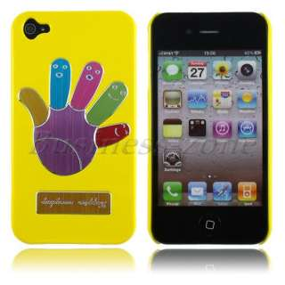 Luxury Yellow Lovely Design Aluminum Metal Skin Hard Case Cover For