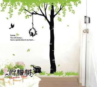 Wall Decor Decal Sticker Removable Shade trees Gob