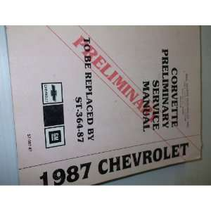 1987 Chevrolet Chevy Corvette Service Repair Manual OEM gm Books