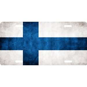 Rikki KnightTM Finland Flag Cool Novelty License Plate