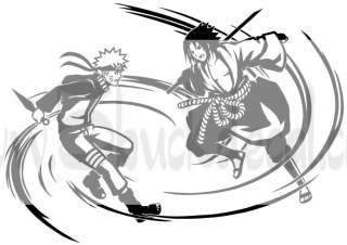 18 NARUTO VS SASUKE WALL DECAL decor mural sticker