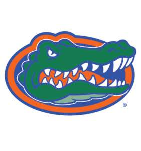 FLORIDA GATORS Gator Head Logo clear vinyl decal UF