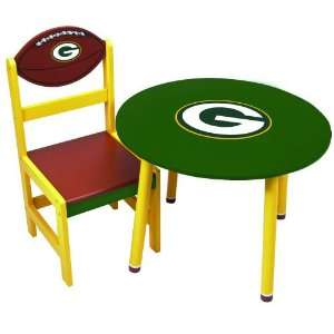 NFL Green bay Packers Childrens Wooden Team Table