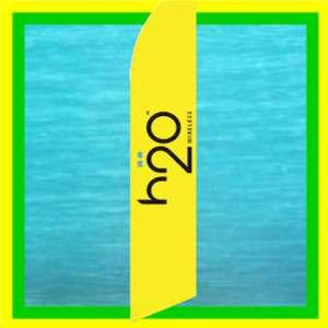 h2o H20 WIRELESS Cell Feather Swooper Banner Ad Flag