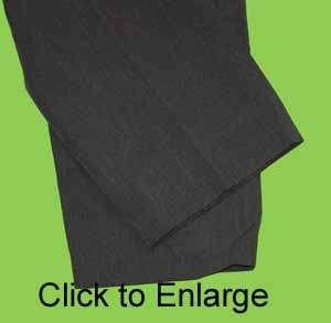 Haggar sz 36 x 27 Mens Gray Dress Pants 3A52