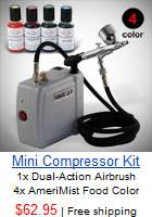 New 3 Airbrush Kit & Air Compressor Dual Action Spray Paint Guns