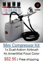 New 3 Airbrush Kit & Air Compressor Dual Action Spray Paint Guns