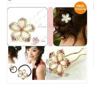 Colorful Crystal Flower Wedding Bridal Hairpin Hair Band Great Gift