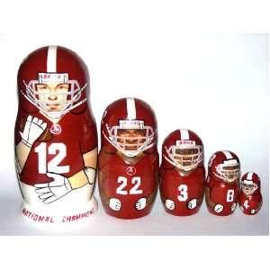 ALABAMA Crimson Tide NCAA College Football or any team Russian Nesting