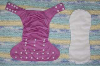 VGUC Violet Happy Heinys One Size Snaps Pocket Diaper with Contour