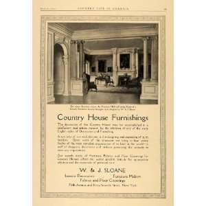 1913 Ad W.J. Sloane Country House Georgian Furniture