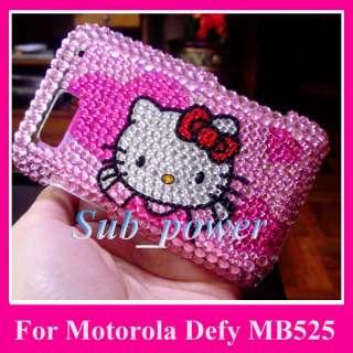 Kitty Bling Crystal Case Cover Motorola Defy MB525 P6