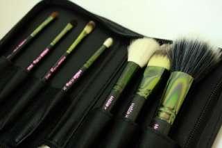 Hello Kitty Makeup Brushes Set Portable 7 Zipper Case