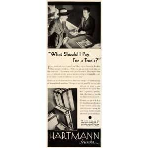 1931 Ad Hartmann Trunks Co Racine Wisconsin Traveler Luggage