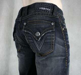AFFLICTION Jeans Mens BLAKE 3D Flap Bounty wash 10SS442