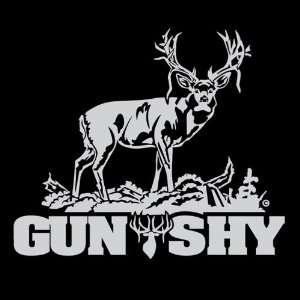 Gun Shy   Mule Deer Decal Automotive