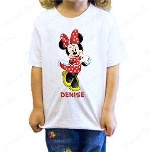 Disney Minnie Mouse T Shirt Personalized birthday year