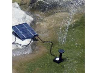 Solar Panel Power Submersible Fountain Pond Water Pump bird bath solar
