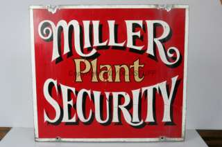 Miller Beer Brewery Plant Security MILWAUKEE WI original TIN