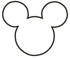 MICKEY MOUSE HEAD STICKER DECAL CHOOSE SIZE & COLOR
