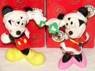 Vintage Enesco MICKEY MOUSE & MINNIE MOUSE Christmas Mistletoe