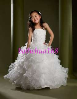 2010 New Flower Girl Pageant Wedding Dress Custom