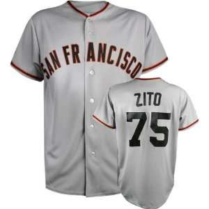 Barry Zito Majestic MLB Road Grey Replica San Francisco