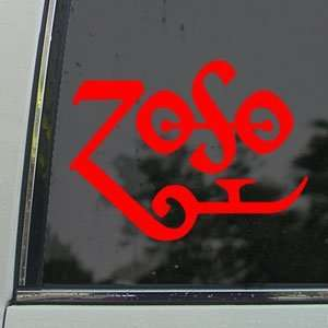Led Zeppelin Red Decal Page Rock Band Window Red Sicker