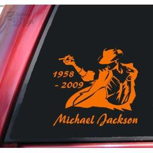 Michael Jackson 1958   2009 Vinyl Decal Sticker   Orange
