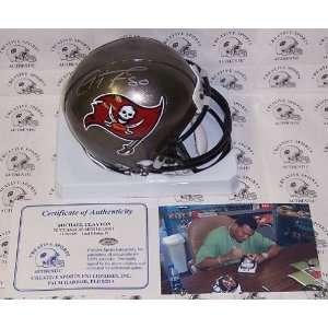 Michael Clayton   Riddell   Autographed Mini Helmet   Tampa Bay Bucs