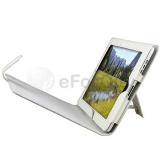 White Leather Flip Sleeve Case Cover stand for iPad 1