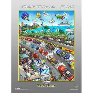 Charles Fazzino Daytona 500 Poster:  Sports & Outdoors