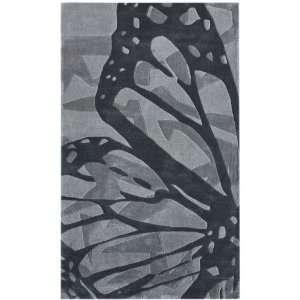 Hand Tufted Contemporary Area Rug Carpet 5 x 8 Grey