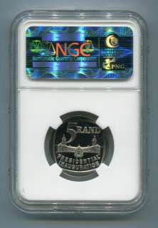 PROOF 68 MANDELA NGC PF 68 ULTRA CAMEO SOUTH AFRICA MANDELA
