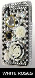 ANIMAL PRINT DESIGN RHINESTONE DIAMOND BLING CASE COVER FOR IPHONE 4