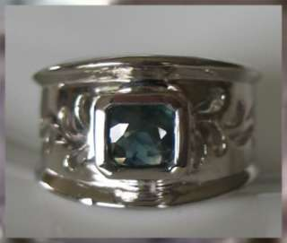 Sapphire 14kt Gold over Sterling Silver .925 Ring Sz 7.5 Majestic