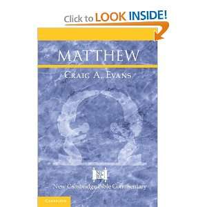 Matthew (New Cambridge Bible Commentary) (9780521812146