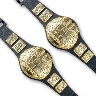 Set of 2 Tag Team Championship Belts for Wrestling Action Figures