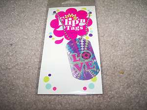 New Girls Justice Love Flip Tag Dog Tag Necklace (#J62)